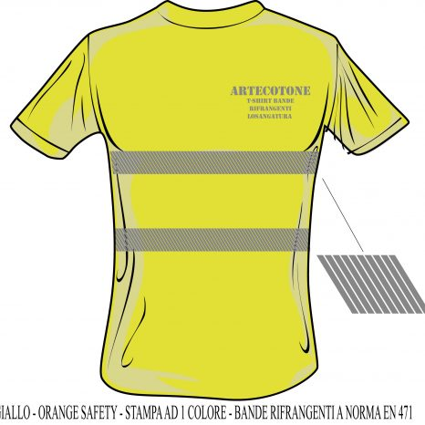 T-shirt con banda rifrangente EN 471 personalizzabile