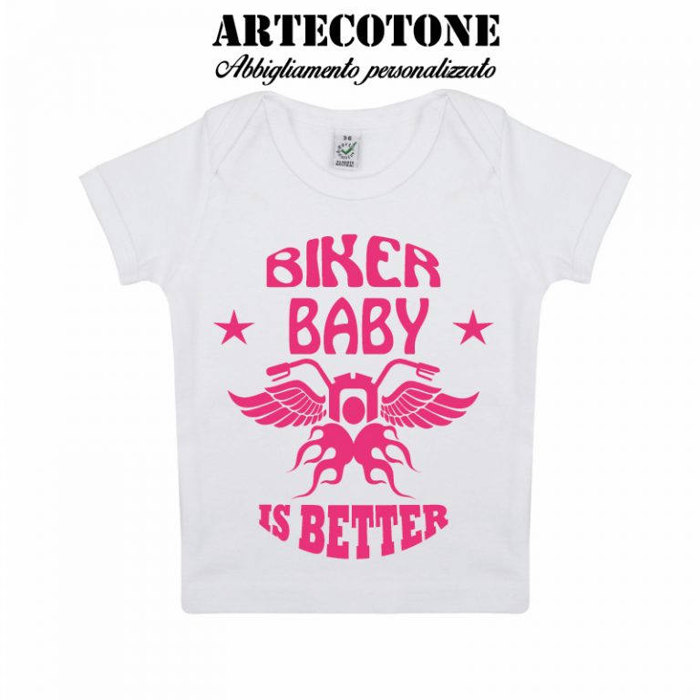 T-shirt baby biker organic cotton
