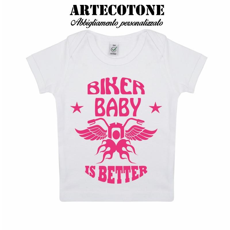 T-shirt baby biker organic cotton