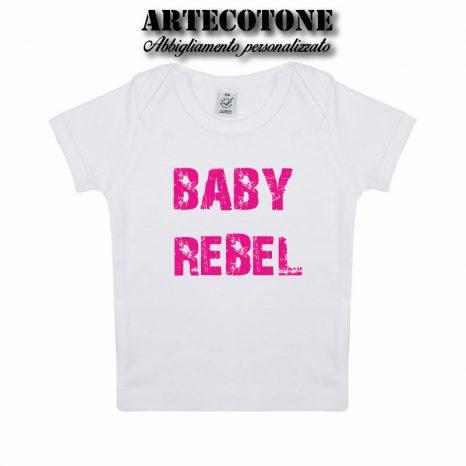 T-shirt Baby Rebel cotone organico