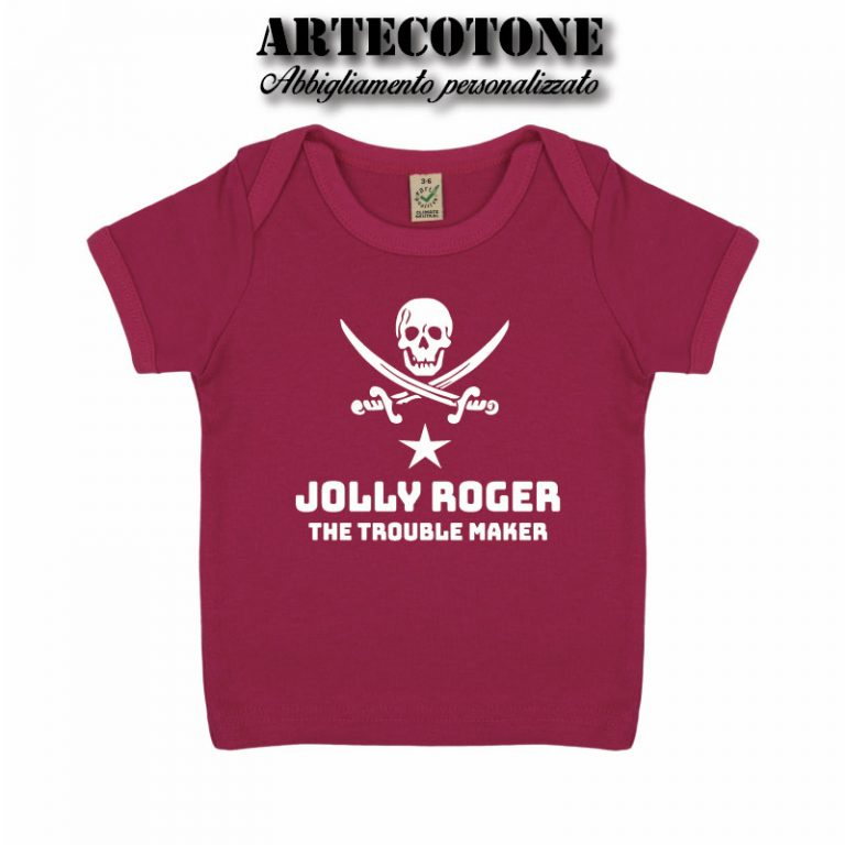 T-shirt Baby Jolly roger cotone organico