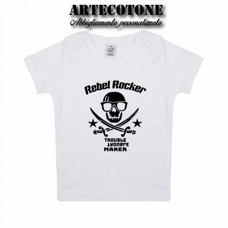 T-shirt Baby teschio Rebel Rocker