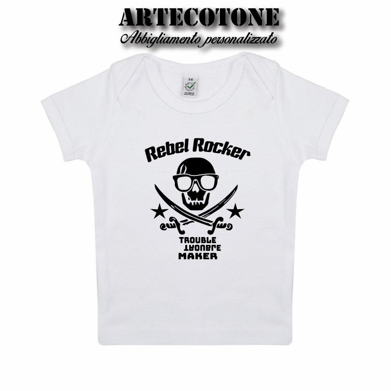 T-shirt Baby teschio Rebel Rocker