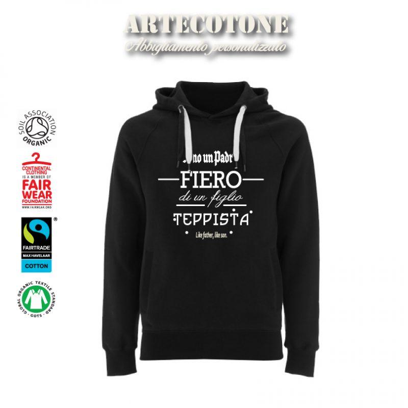"""Felpa Unisex """"Padre fiero Figlio teppista"""" Design by Artecotone"""