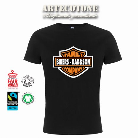 Tshirt Bikers Dad & Son stile Harley Davidson by Artecotone